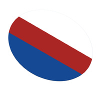 DRUFOSOFT - Tricolor пластины для капп 3,0х120 мм, бел/голуб./красн, 3шт.